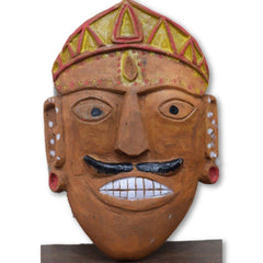 Ramman wooden mask - Lord Kshetrapal(Bhumiyal god)-Ramman wooden masks-Samaun- The Himalayan Treasure