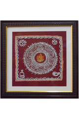 Shri Ganeshji in Aipan Embroidery-Aipan Craft-Samaun- The Himalayan Treasure