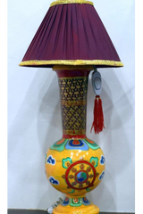 Tibetan handcrafted table lamp (For Store Pickup Only)-Tibetan Craft-Samaun- The Himalayan Treasure