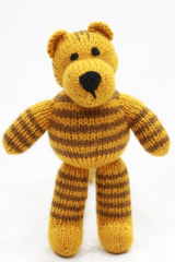 Handknitted Soft cuddly toy Tiger from Uttarakhand-Handcrafted Soft Toys-Samaun- The Himalayan Treasure