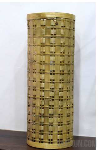 Tower shaped Lampshade in bamboo-Jute,Bamboo & Ringal-Samaun- The Himalayan Treasure
