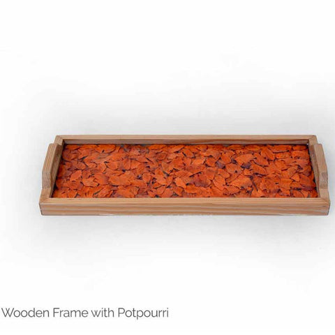 Hand Presses flowers Wooden Tray-Paper Craft-Samaun- The Himalayan Treasure