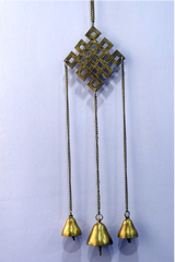 Tibetan Wind Chimes Infinite Knot (Brass)-Tibetan Craft-Samaun- The Himalayan Treasure