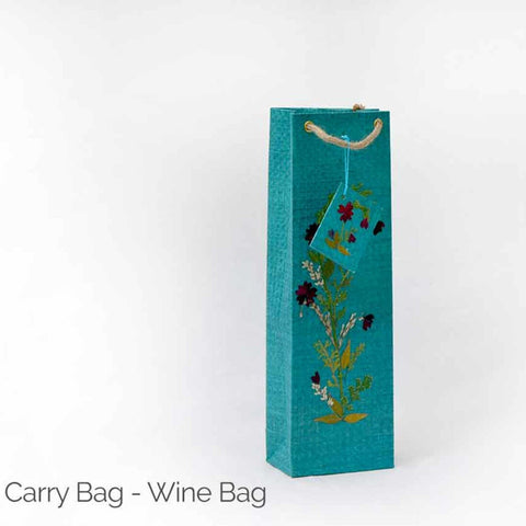 Handmade paper wine bag-Paper Craft-Samaun- The Himalayan Treasure