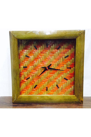 Bamboo Wall Clock Design-Wood Craft-Samaun- The Himalayan Treasure