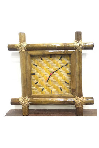 Bamboo Wall Clock-Wood Craft-Samaun- The Himalayan Treasure