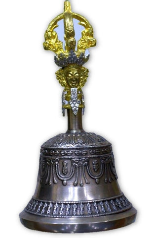 Very fine crafted Tibetan Om bell-Tibetan Craft-Samaun- The Himalayan Treasure
