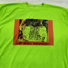 Cotton T-shirt with  Panchmukhi  Kedarnath