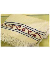 Merino Embroided Muffler-Himalayan Shawls & Stoles-Samaun- The Himalayan Treasure