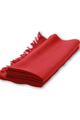 Merino wool Stole - Plain Red-Himalayan Shawls & Stoles-Samaun- The Himalayan Treasure