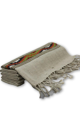Merino wool Stole in Kullu design - Grey-Himalayan Shawls & Stoles-Samaun- The Himalayan Treasure