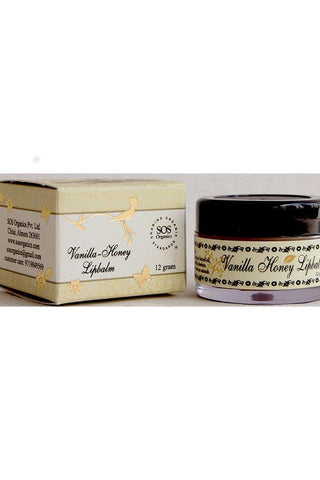 SOS Himalayan Natural Vanilla Honey Lipbalm-Natural Himalayan Cosmetics-Samaun- The Himalayan Treasure