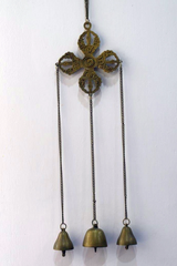 Wind Chimes double Dorje (Oxidised Brass)-Tibetan Craft-Samaun- The Himalayan Treasure