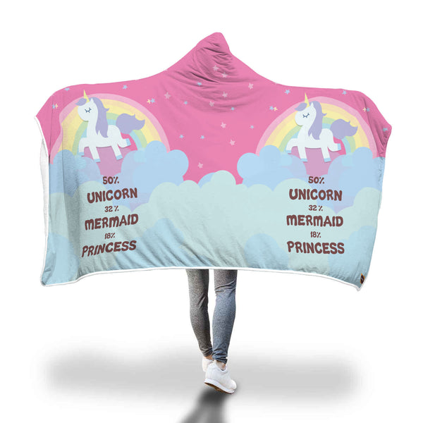 Unicorn Mermaid Princess Hooded Blanket - Bowie Shoppe
