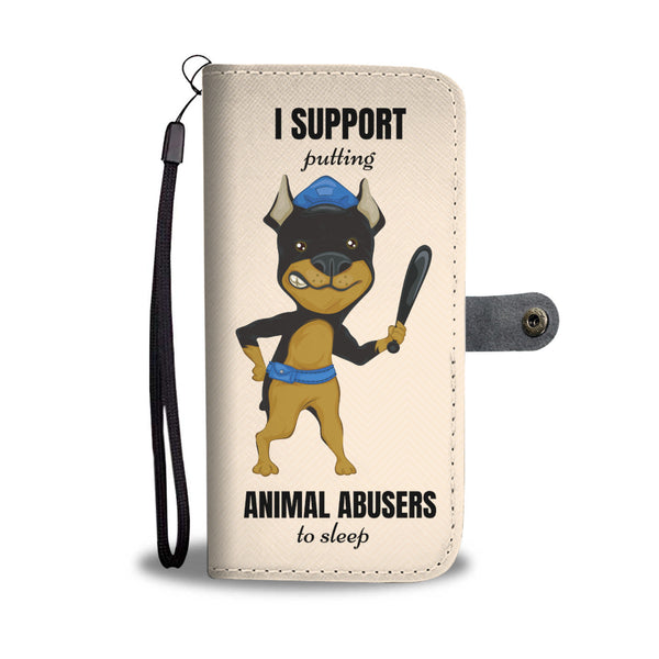Put Animal Abusers To Sleep Wallet Phone Case (RFID Blocking) - Bowie Shoppe