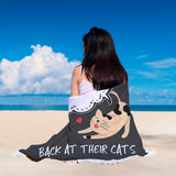 Meow Back At Your Cat Round Beach Blanket - Bowie Shoppe