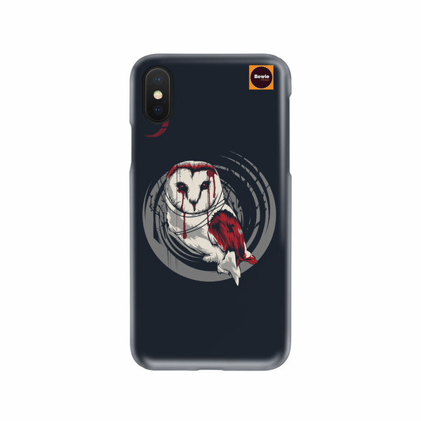 Owl In Blood Moon Night Phone Case - Bowie Shoppe