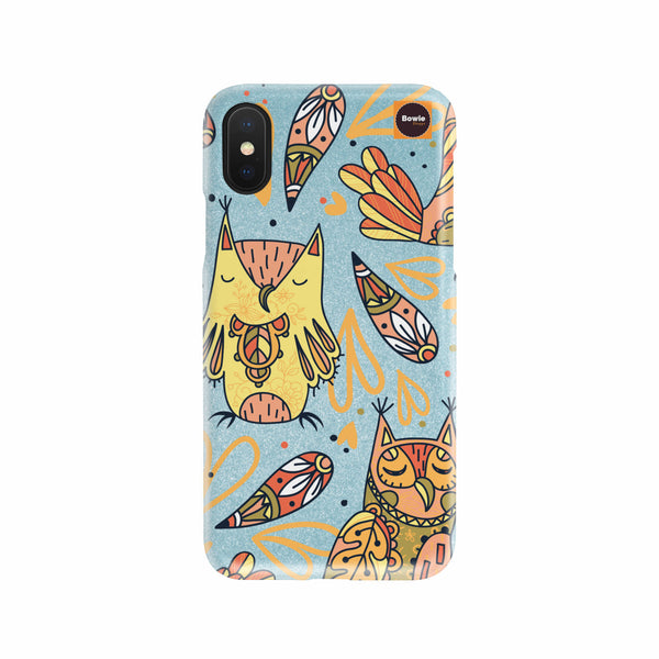 Hand Drawn Owl Phone Case - Bowie Shoppe