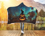Halloween Cat and Pumpkin Hooded Blanket - Bowie Shoppe