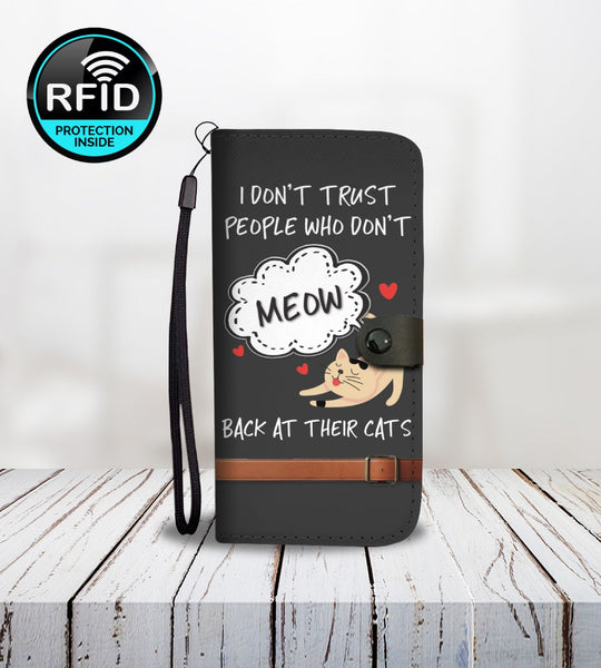 Meow Back At Your Cat Wallet Case with RFID Protection - Bowie Shoppe