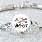 My Children Woof Round Charm Luxury Bracelet - Bowie Shoppe