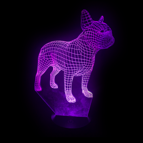 French Bulldog Frenchie LED Color-Changing Lamp - Bowie Shoppe
