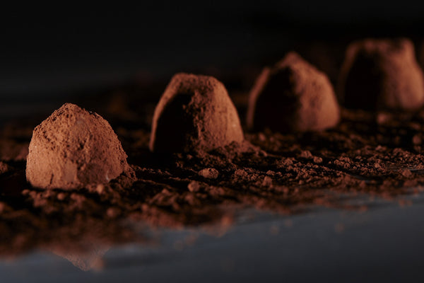 Truffes bio éclats de noisettes | Organic chocolate truffles with Chips Toasted Hazelnuts Made in France 200 GR