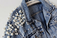 Bridal Pearl Personalised Denim Jacket