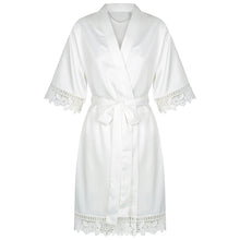 Personalised White Bridal Robe