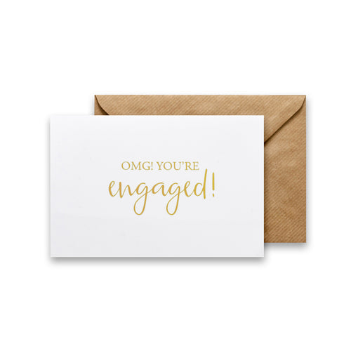 OMG! You're Engaged! Gold Foil Card