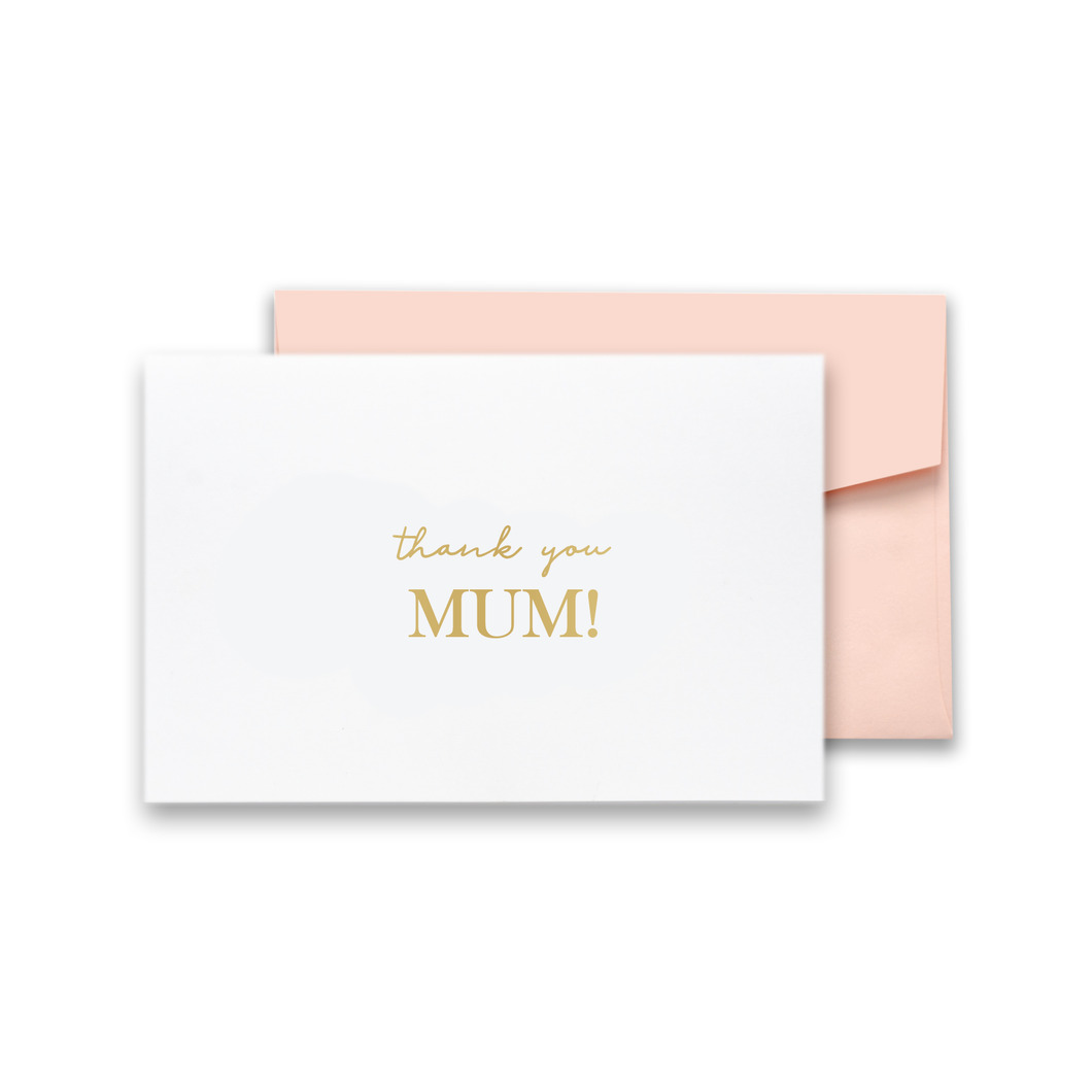 Thank you Mum Gold Foil Card
