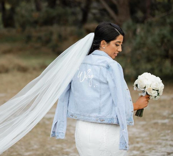 Personalised Bridal Denim Jacket
