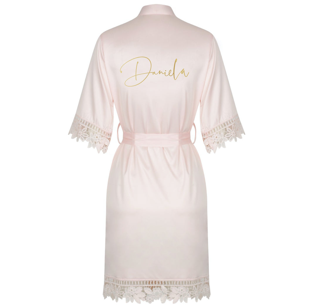 Personalised Blush Bridal Robe