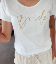 Evie White Embroidered Tee - White
