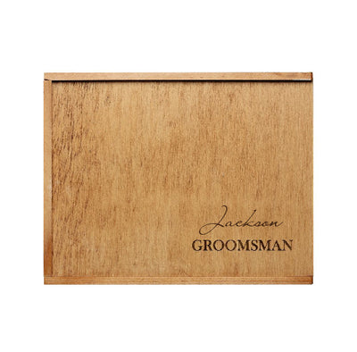Guys Personalised Engraved Timber Hamper Box - Empty