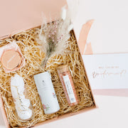 I cant say i do without you bridesmaid rose gold hamper boxes gift