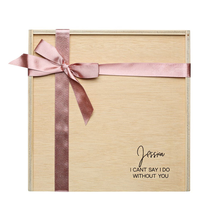 Personalised Timber Hamper Box - Empty