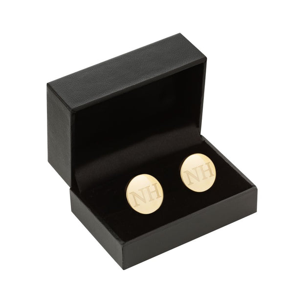 personalised gold mens cufflinks groomsman best man gift ideas