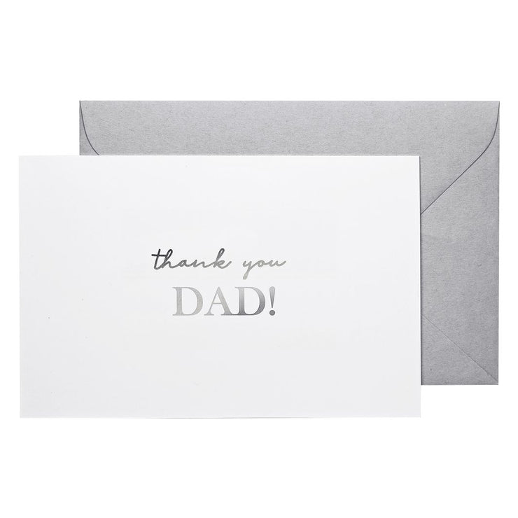 thank you dad note card father of the bride groom note card fathers day