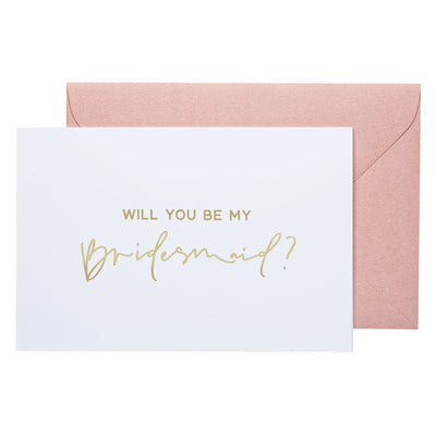 will you be my bridesmaid note card gold foil bridesmaid boxes
