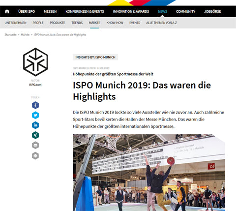 Highlight der ISPO 2019 für Grüezi bag!