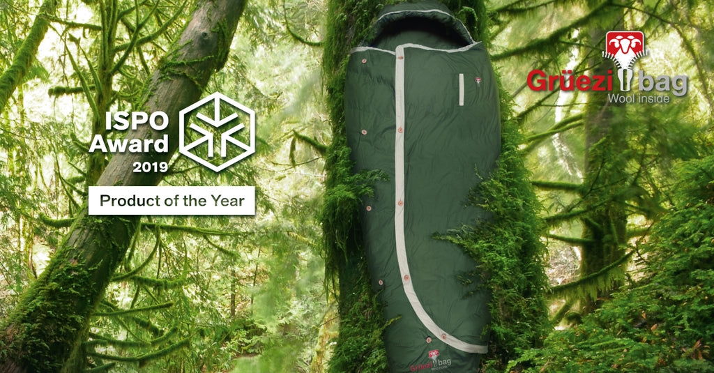 ISPO Award 2019 - Product of the Year - Grüezi bag Biopod DownWool Nature