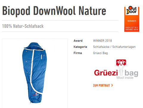 'Outdoor-Show.de' stellt das Highlight für Naturfreunde vor - Grüezi bag Award WINNER 2018!