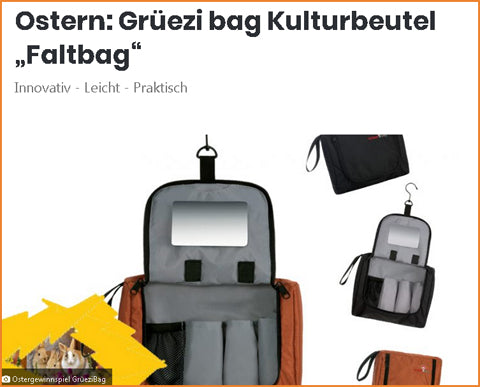 Magazin-Be-Outdoor-Ostergewinnspiel 2019-Gruezi bag-Flatbag