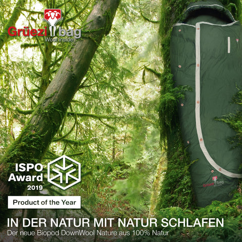 ISPO Award 2019 Product of the year: Biopod DownWool Nature