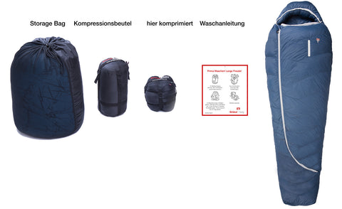 Scope of delivery Grüezi bag Biopod DownWool Summer 175
