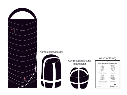 Scope of delivery Grüezi bag sleeping bag