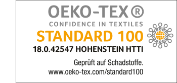 STANDARD 100 by OEKO-TEX® - certification for Grüezi bag
