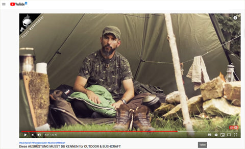 Outdoor & Bushcraft-Youtubevideo-Testerfahrung-Biopod DownWool Nature-21Juni2019