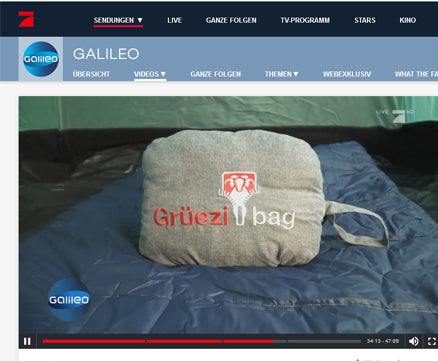 gruezi-bag-Feater-The Feet Heater-Prosieben-Galileo-Report Aug 2018